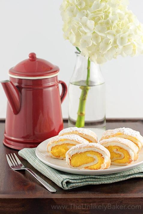 Brazo de Mercedes - a favorite Filipino dessert