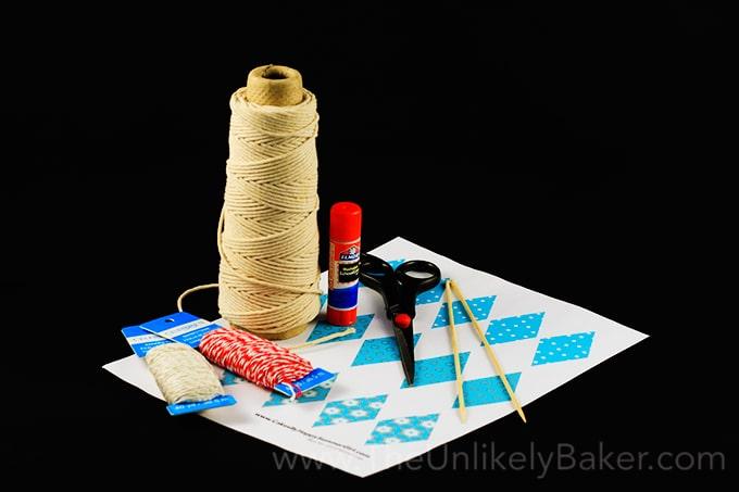 Cake Bunting Materials