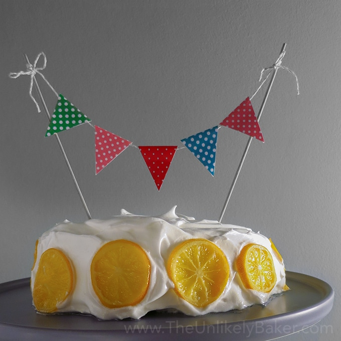 Lemon Cake with Cake Buntings