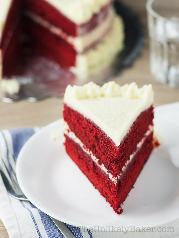 Red Velvet Cake with Ermine Frosting