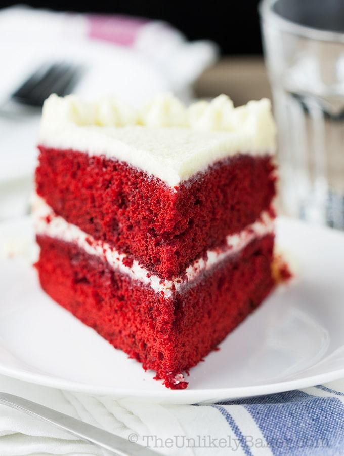 Red Velvet Cake with Ermine Frosting