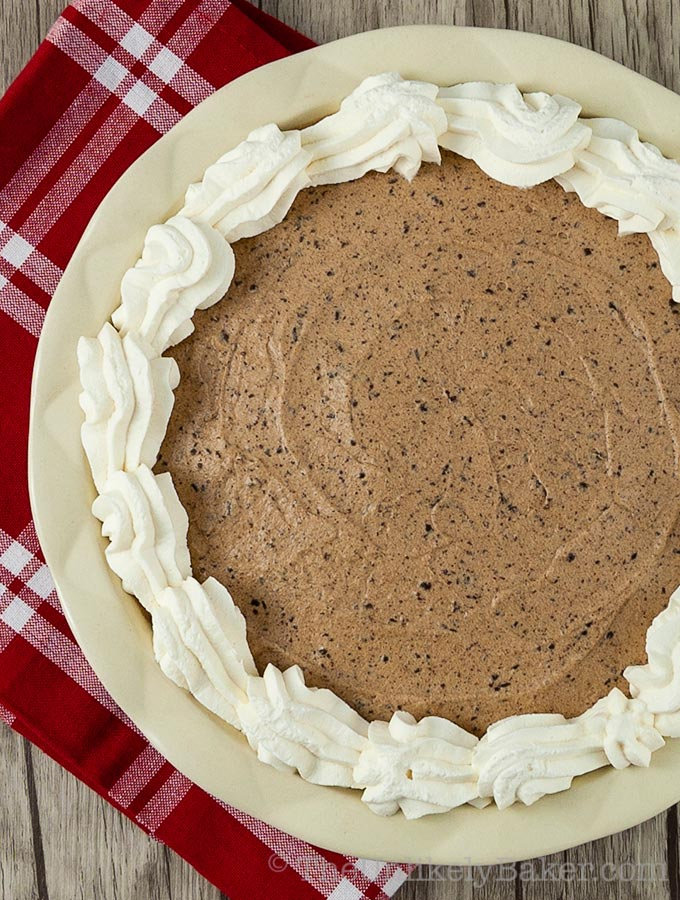 Baileys Chocolate Mousse Pie