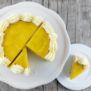 Lemon Curd Layer Cake with Lemon Buttercream
