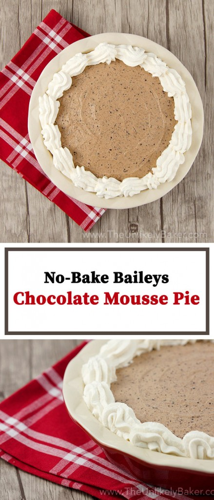 No Bake Baileys Chocolate Mousse Pie Pinterest