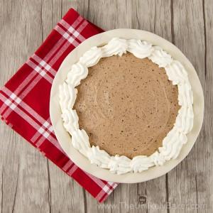 No Bake Baileys Chocolate Mousse Pie Square
