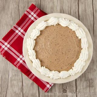 No-Bake Baileys Chocolate Mousse Pie