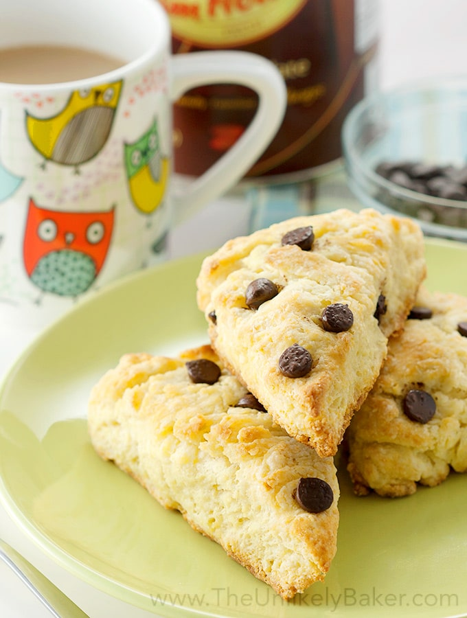 Buttermilk Scones with Chocolate Chips