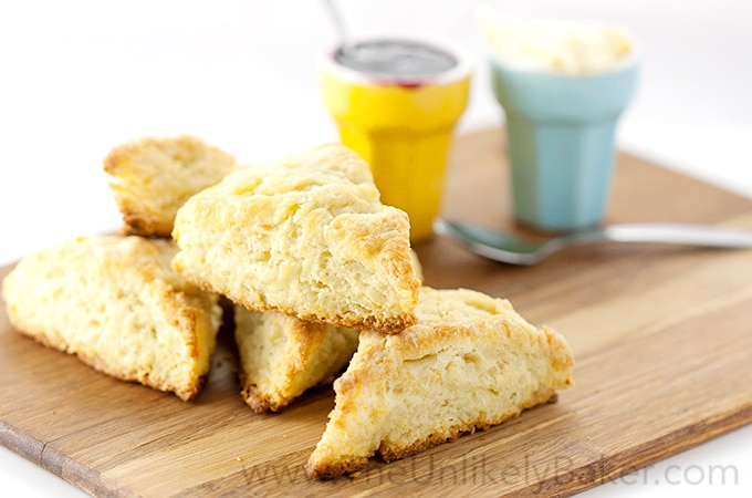 Buttermilk Scones with Jam