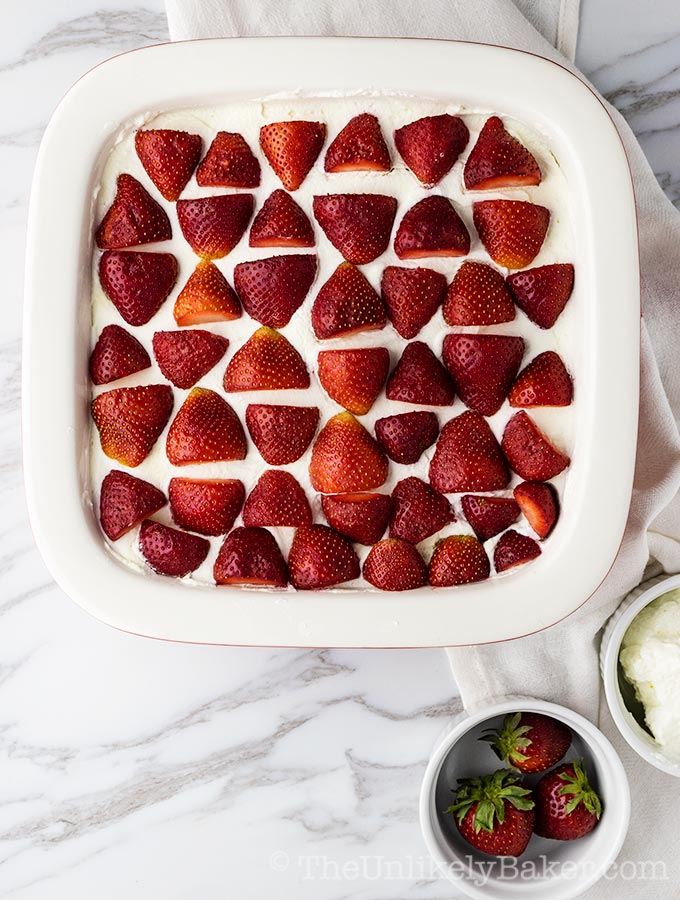 Strawberry Refrigerator Cake (Strawberry Icebox Cake Filipino Style)
