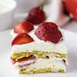 Strawberry Refrigerator Cake (Strawberry Icebox Cake Filipino Style)