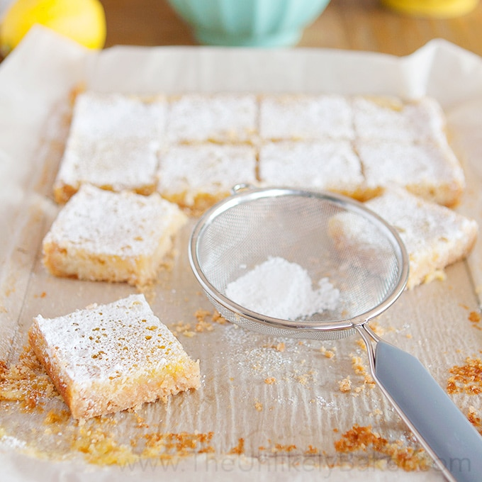 Lemon Bars with Shortbread Crust