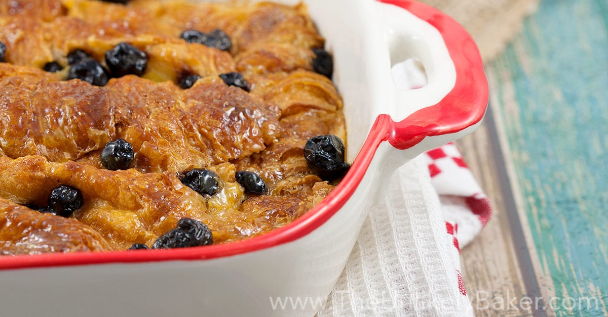 Croissant Bread Pudding with Lemon Butter and Blueberries ...