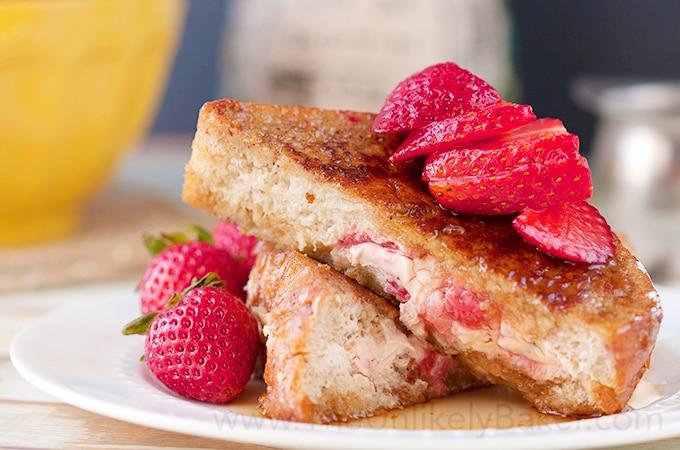Strawberry Cream Cheese Stuffed French Toast