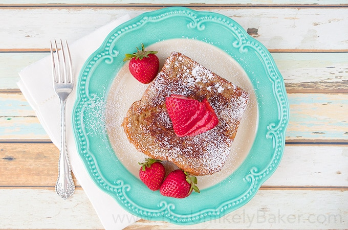 Strawberry Cream Cheese Stuffed French Toast