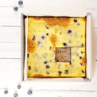 Fresh Blueberry Ricotta Bars