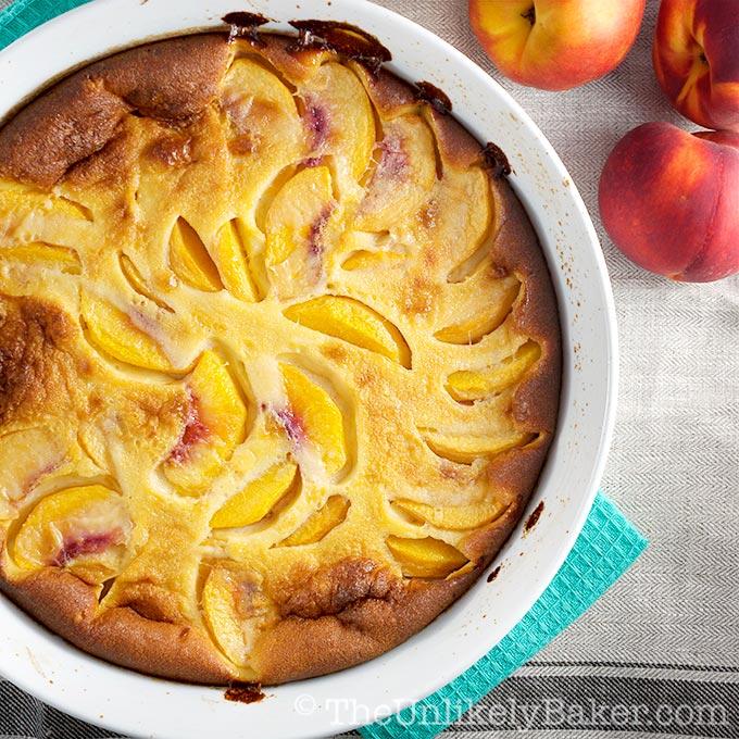 Fresh Peach Clafoutis Recipe