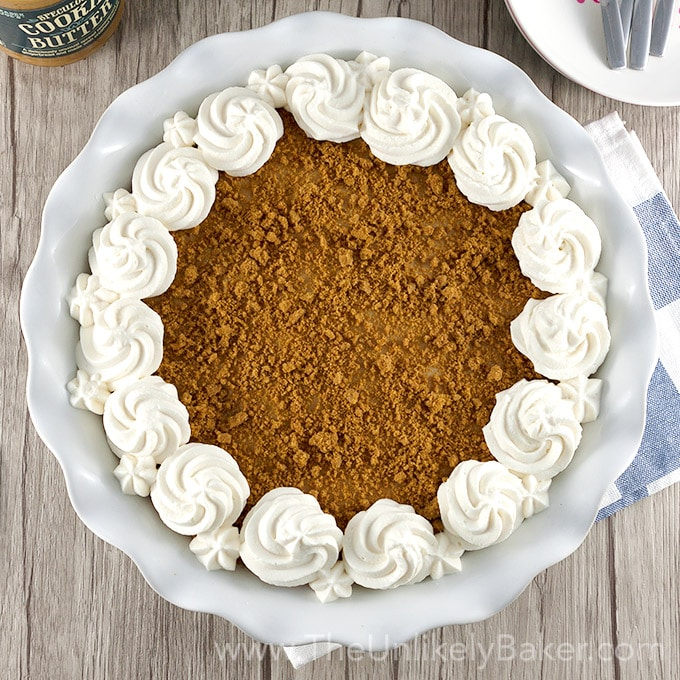 (Almost) No Bake Cookie Butter Pie