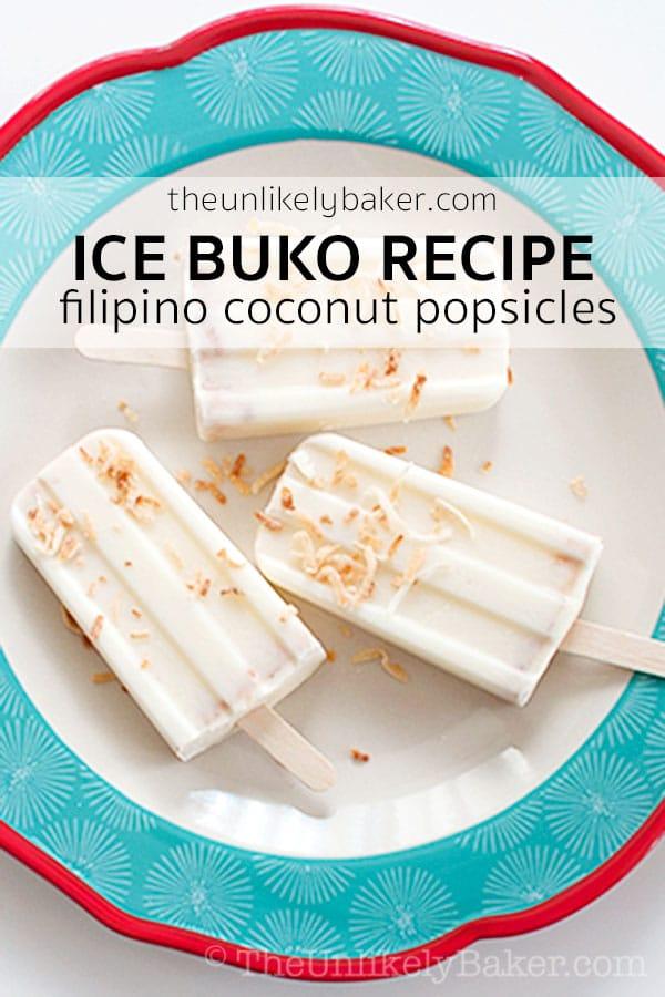Coconut Popsicles (Filipino Ice Buko Recipe)