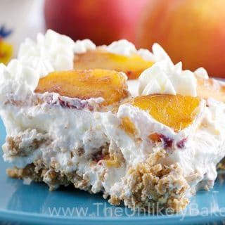 No Bake Fresh Peach Icebox Cake