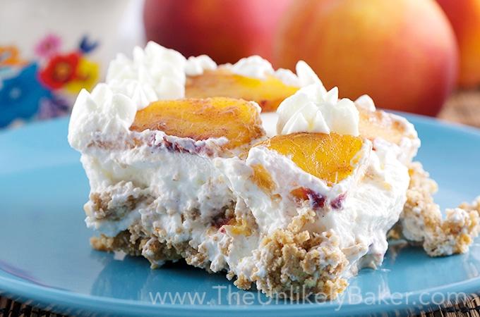 Peach Icebox Cake