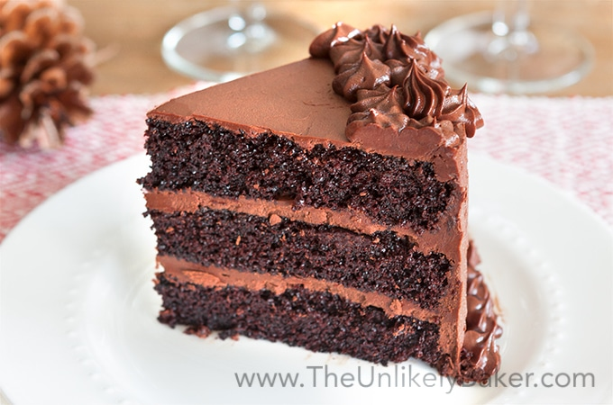 The Best Ever Chocolate Cake with Chocolate Fudge Frosting