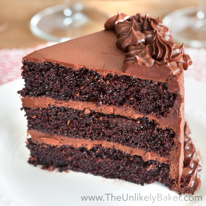 Chocolate Cake With Chocolate Fudge Frosting The Unlikely Baker