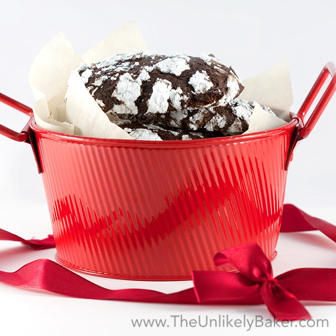 and very chocolatey, chocolate crinkles are also ridiculously easy ...