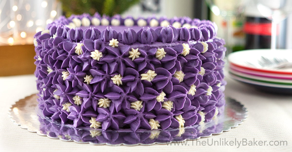 Ube Cake Filipino Purple Yam Cake The Unlikely Baker