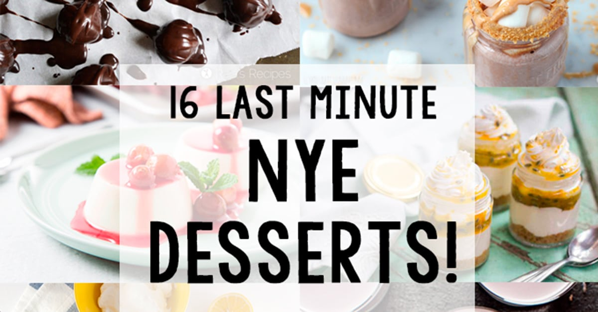 Desserts For New Years Eve