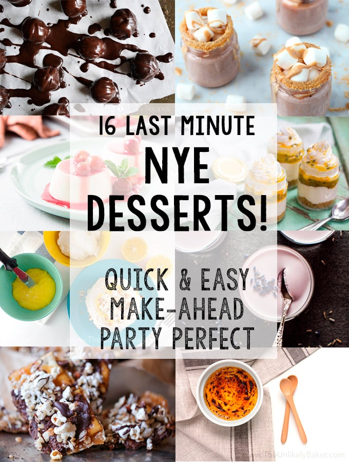 New Year's Eve Desserts