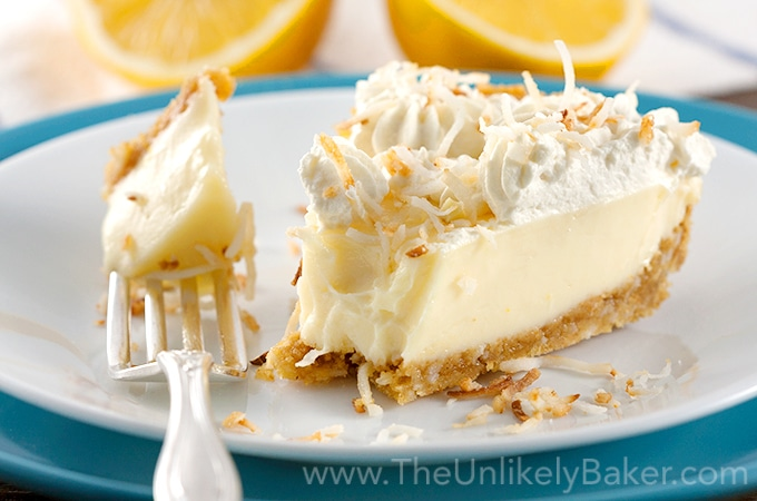 Creamy Meyer Lemon Pie