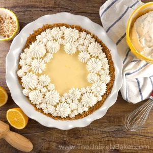 Easy Meyer Lemon Pie with Condensed Milk (Video)