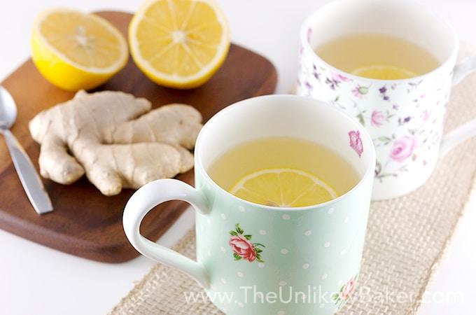 How to Make Fresh Lemon Ginger Tea