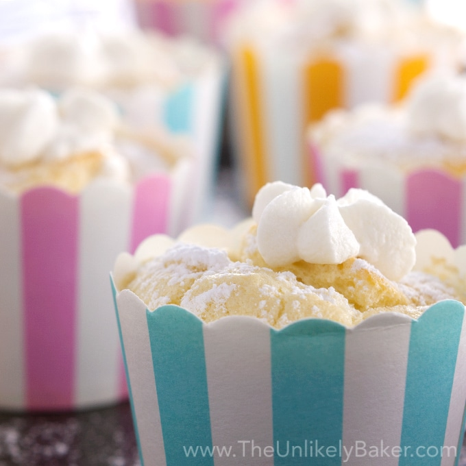 Light and Fluffy Hokkaido Chiffon Cupcakes