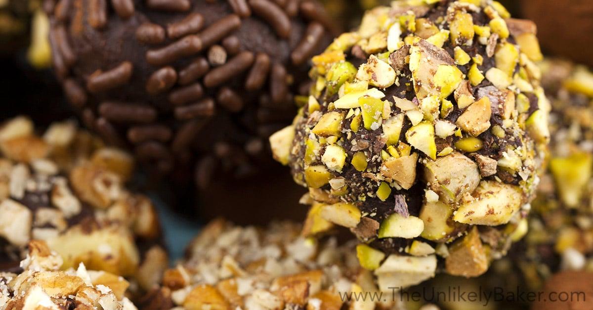 Irish Cream Chocolate Truffles - The Unlikely Baker