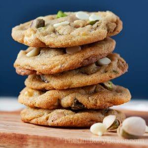 White Chocolate Chip Pistachio Cookies