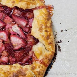Strawberry Rhubarb Galette (with video)