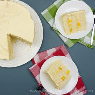 Mango Chiffon Cake with Whipped Mango Cream Frosting