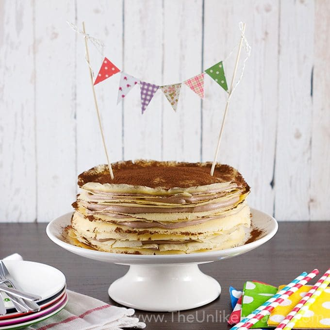 Crepe Cake with Whipped Chocolate Mascarpone Cream