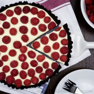 No-Bake Raspberry White Chocolate Tart (with video)