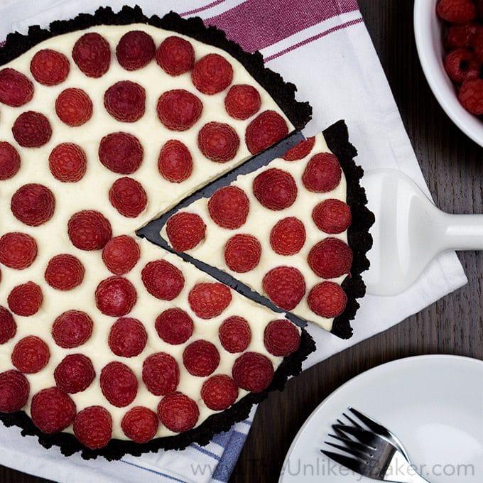 No-Bake Raspberry White Chocolate Tart