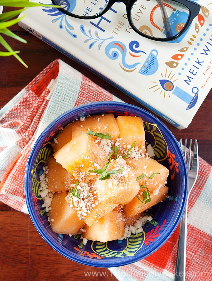 Cantaloupe Feta Cheese Salad
