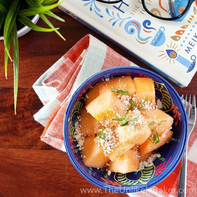 Cantaloupe Feta Cheese Salad
