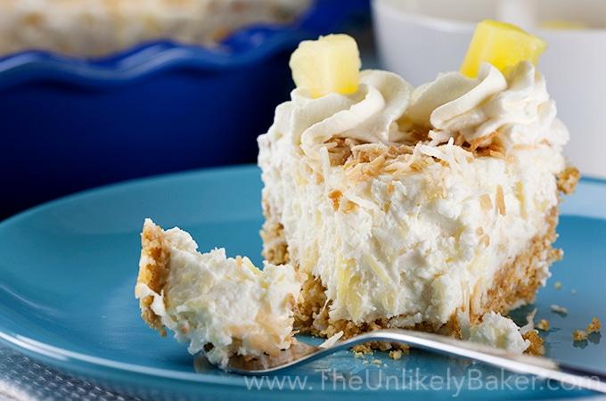 No Bake Pineapple Coconut Cream Pie