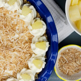 No Bake Pineapple Coconut Cream Pie