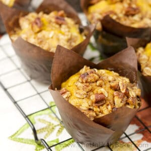 Pumpkin Pecan Muffins with Pecan Streusel Topping