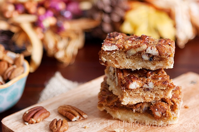 Bourbon Pecan Pie Bars