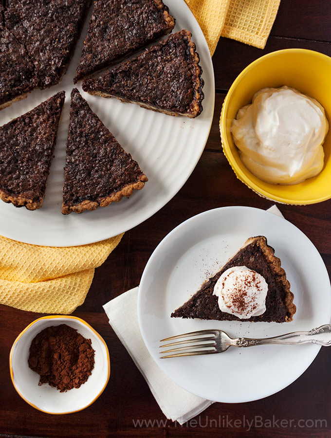 Chocolate Brownie Tart with Brown Butter Crust