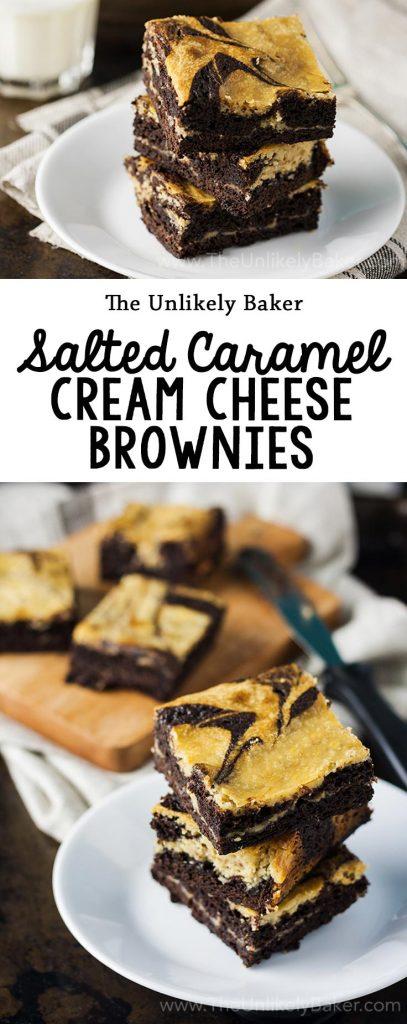 Salted Caramel Cream Cheese Brownies
