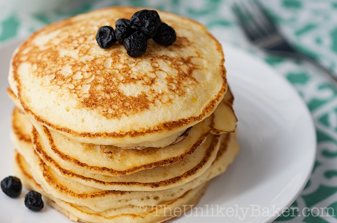 Light Fluffy Lemon Ricotta Pancakes
